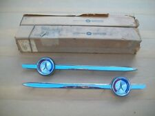 1964 64 Plymouth Fury 4 Door NOS MoPar ROOF BELT LINE MOLDING & ORNAMENT PAIR