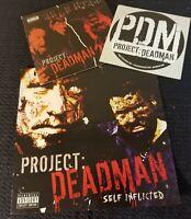 Project: Deadman - CD Sticker Flyer Lot horrorcore prozak Mike E Clark PDM icp