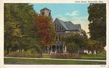 Greenville Mississippi Court House Street View Antique Postcard K59615