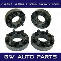 "4 PCs 1"" BLACK HUB CENTRIC WHEEL SPACER 6X135 CB 87mm 14x1.5 FIT FORD LINCOLN"
