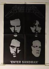 Metallica Enter Sandman Original Vintage Poster 1990's pin-up Metal Rock & Roll