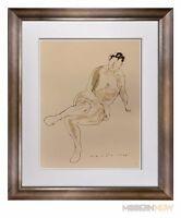 "Marino MARINI Lithograph SIGNED Ltd EDITION ""Riposo"" 1948  +Custom FRAME 20x24in"