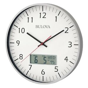 *BRAND NEW* Bulova Manager Oversized White Dial Wall Clock C4810