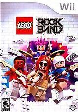 NINTENDO Wii LEGO ROCK BAND Complete WiiU Foo Fighters Pink Queen Blink 182