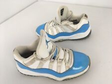 1fd3f101c0f496 Jordan Retro 11 Low Top Shoes White University Blue 505835-106 Kids Size 13c