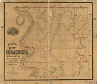 """12/"""" x 24/"""" 1836-1924 Map Of Grimes County Texas"""