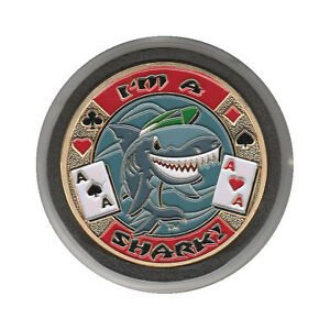 NEW I'm A Shark Poker Card Guard *GOLD*