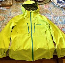 Women's Yellow Patagonia Rain Coat - Size M