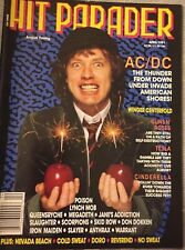Hit Parader AC/DC The Thunder from Down Under Invade American Shores! April 1991