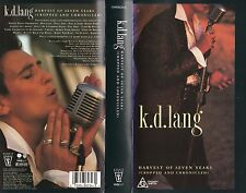 K.D. LANG -HARVEST OF SEVEN YEARS -VHS -PAL -NEW & SEALED - Never played! RARE!!