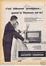 Publicité Advertising 096 1957 Ducretet-Thomson radio L-757 am/fm