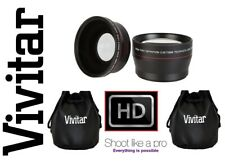2-Pc Lens Kit Hi Def Telephoto & Wide Angle Lens Set For Sony FDR-AX1