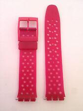 CINTURINO Strap watch OROLOGIO modello SWATCH PLASTICA FUCSIA RETRO 17 mm SW525