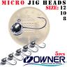 Jig Heads Owner Micro Precision 5pcs Ultra Light Lure Fishing Jig Head LRF UL