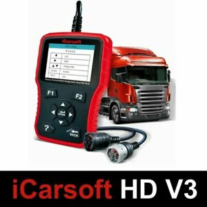 OBD Diagnostic Scanner Tool iCarsoft HD V3.0 For Bus Trucks Commercial Vehicle