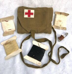 WW1/WW2 RED CROSS MILITARY SEWING KIT POUCH - AMERICAN S. EASTERN PENNA CHAPTER
