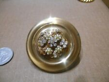 Vintage Jeweled Pearl Lipstick Mirror Compact