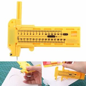 Rotary Compass Circle Cutter Paper Cardboard Rubber Vinyl Leather Art Craft Kit