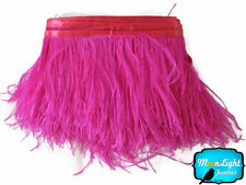 1 Yard - HOT PINK Ostrich Fringe Trim Wholesale Feather (bulk)