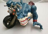 Street Sharks Rip Rider Ripster Motorcycle - Figur auf Motorrad - Mattel 13448