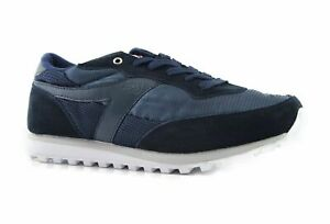 Mens Dunlop Kt26 Kt-26 Runners Running Sneakers Navy White Athletic Shoes