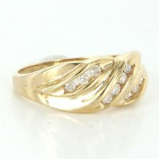 Vintage 10 Karat Yellow Gold Diamond Right Hand Ring Fine Estate Jewelry