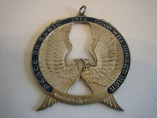 Vtg 1973 Wallace Sterling Peace On Earth Good Will Toward Men Dove Ornament 925