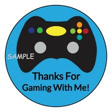 12 Video Game party stickers Birthday favors labels tags controller round gifts