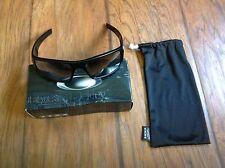 Men's Oakley Polarized Crankshaft Black Wrap Sunglasses NEW