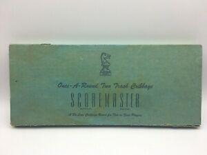 Vintage Cedar DRUEKE SCOREMASTER #1150 Once-A-Round Two Track Cribbage Board