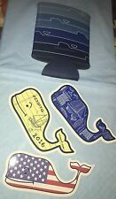 Vineyard Vines Coozie and 3 Whale Stickers