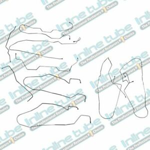 2002-09 Hummer H2 ABS under Driver's Seat Complete Brake Line Kit 9pc Stainless