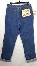 Jordache Womens Jeans Size 16 L Long Super Washed Dark Denium Blue 80s Vtg