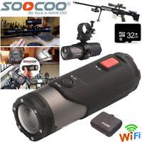 32G WIFI 1080P Sports Action Camera Bike Helmet For Shotgun Waterproof Camcorder
