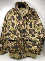 Vintage CABELA'S Goose Down Hunting Jacket Camo Men's XL Excellent Condition