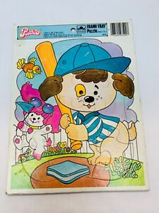 Vintage Poochie Puzzle With Fastball Baseball Mattel Frame Tray Puzzle 1980s