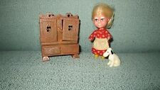 Vintage Storykins Old Mother Hubbard HTF Doll Cupboard Dog Set  Hasbro Little