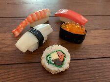 Fake Sushi Set Food Artificial Play Realistic Faux Japanese Seafood Set 1 Prop