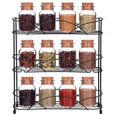 3-Tier Spice Rack Metal Kitchen Storage Organizer Spice Jars Shelf Holder
