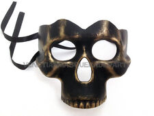 Masquerade Skull Mask Bronze Black White Costume Prom Burlesque Halloween Party