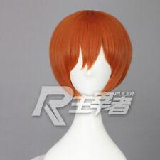 Anime Love live ! Hoshizora Rin Wig Short Orange Cosplay Costume Wigs + Wig Cap