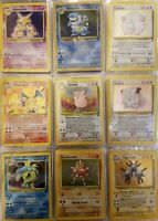 OLD Original Vintage Pokemon 10 Card LOT 1st Edition + Holo + Rare Played