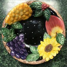 New ListingFitz & Floyd Fruit & Sunflower Bowl (marked1993)