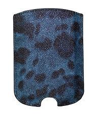 Nuevo Dolce & Gabbana Funda de Teléfono Azul Diseño de Leopardo Cuero 11.5x8 Cm