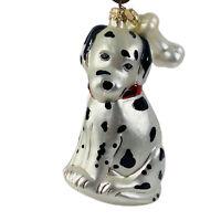 "Kurt Adler Christmas Ornament Blown Glass Dalmatian Polonaise Poland 6"" Vtg 90s"