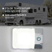 RV Boat Camper Trailer Interior Led Ceiling Down Light  Dome 12V W/ Touch Dimmer