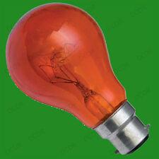 6x 60w Rojo Fuego Bombillas GLS, para incubadora, BC, B22 Lámparas Reptiles