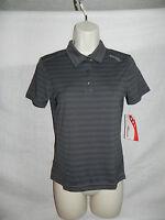 Saucony Polo Shirt XS Womens Black Striped NWT