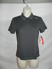 SAUCONY WOMENS BLACK MULTI-COLOR POLO SHIRT XS SHORT SLEEVE NWT