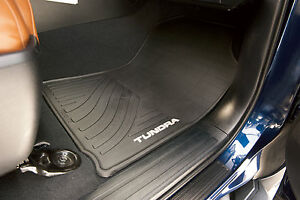2-Piece All-Weather Floor Mats for the 2012-2013 Toyota Tundra-New, OEM